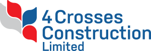 4 crosses construction logo 300